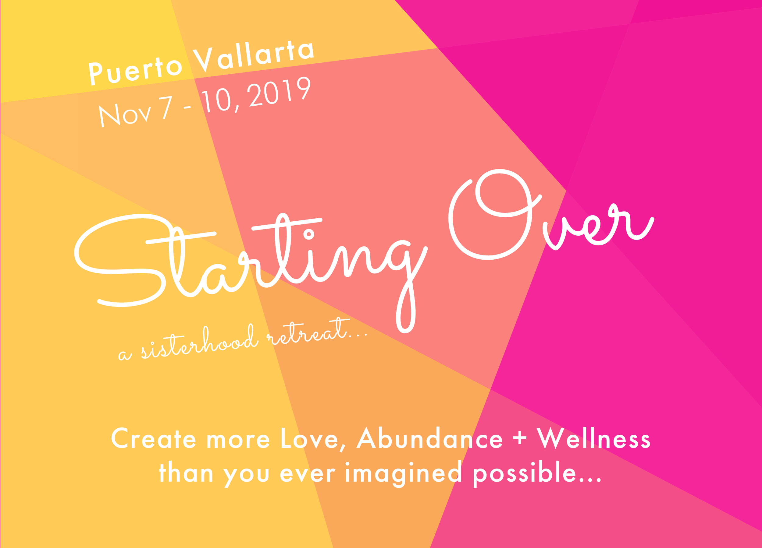 starting over womens retreat in Puerto Vallarta November 2017